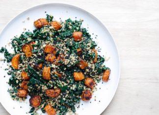 Toasted Quinoa, Kale and Roast Carrot Salad