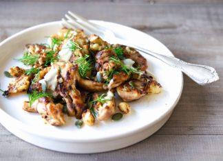 One Pan Chicken and Cauliflower Hash