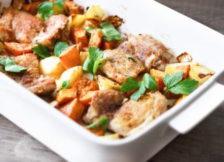 Chicken and Root Vegetable Tray Bake