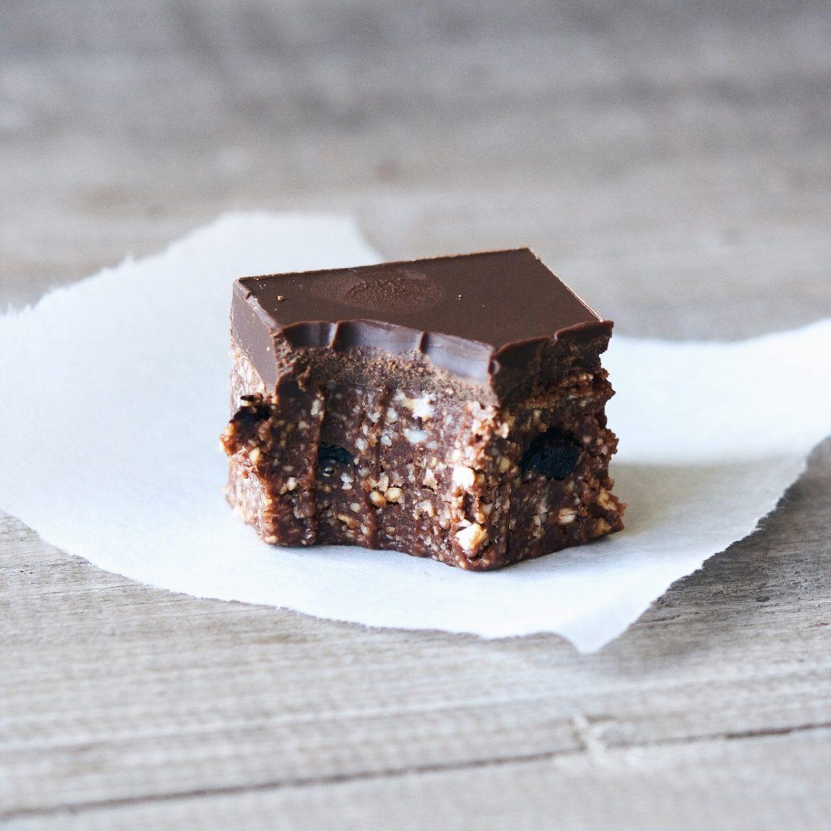 Chocolate Sour Cherry Slice