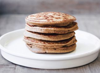 Banana Flour Pancakes, ready to be dressed