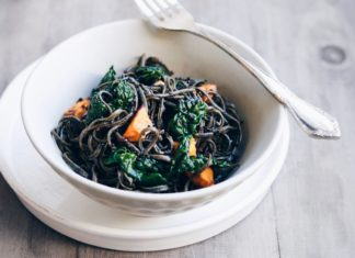 Black Bean Noodle Salad with Tamari Dressing