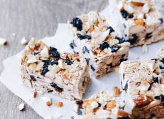 No Bake Chewy Muesli Bars