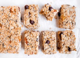 No-Bake Choc Chip Apricot Muesli Bars