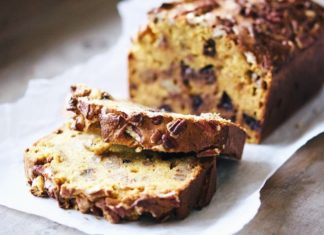 Spiced Pumpkin Loaf with Dark Chocolate and Pecans