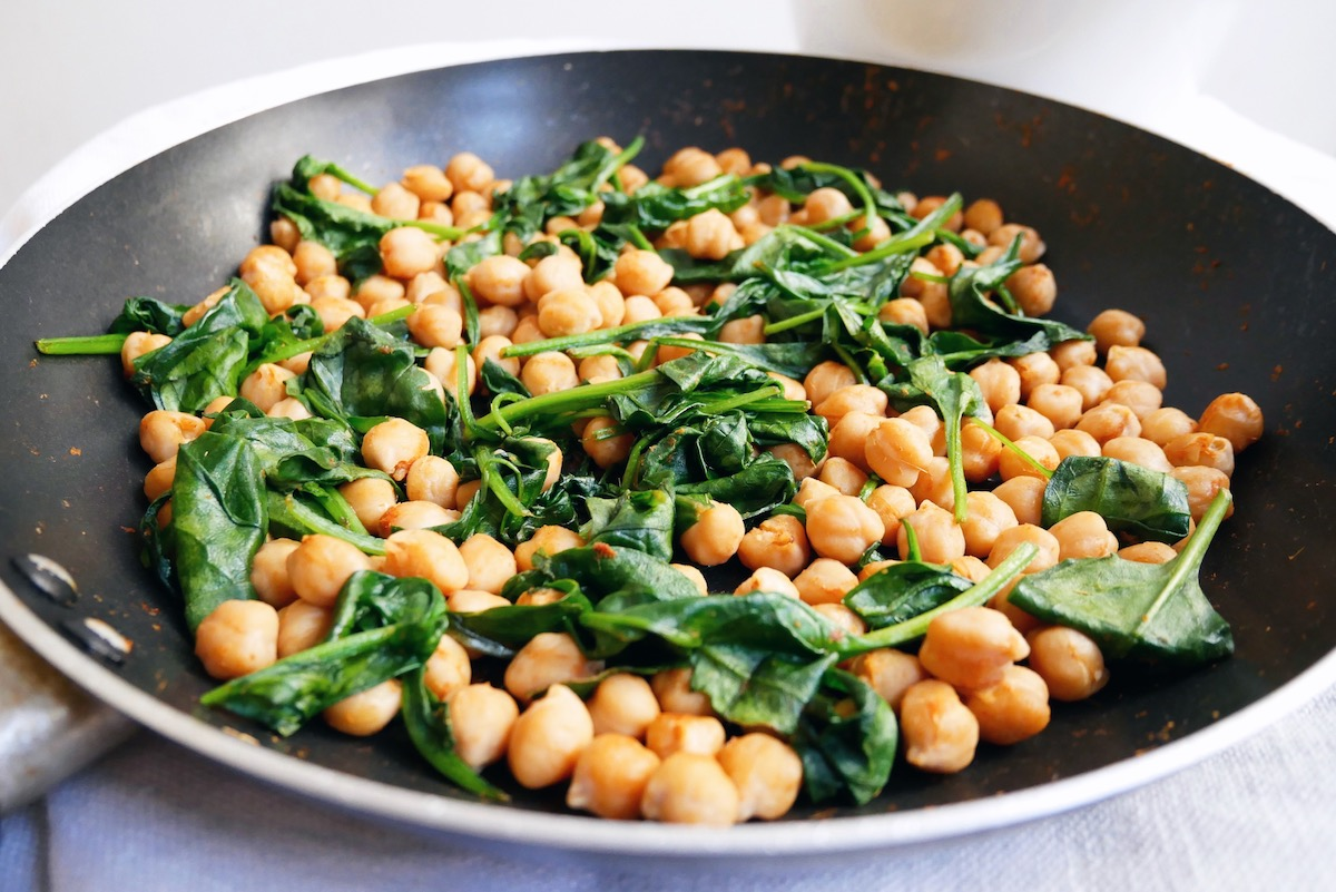 Two Minute Spiced Chickpeas