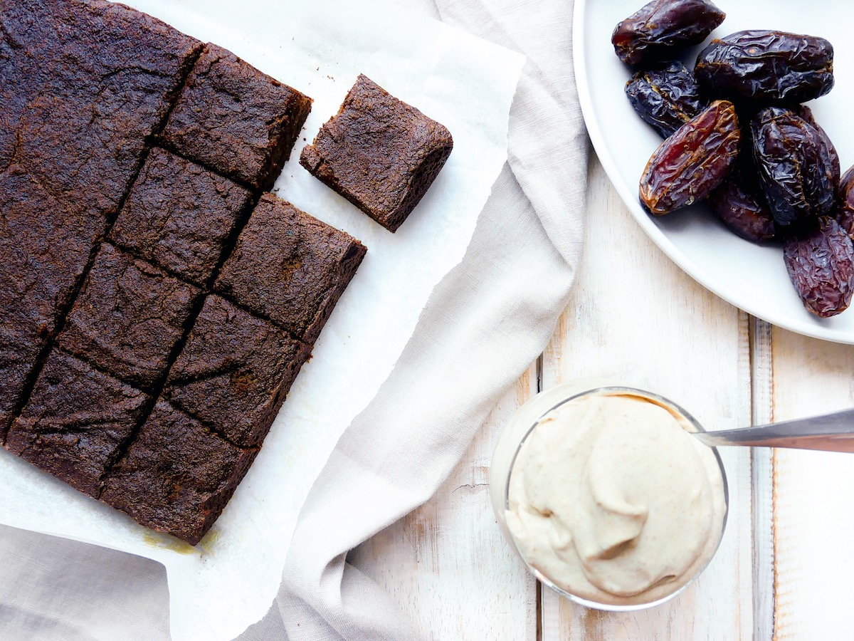 Sticky Medjool Date Gingerbread Cake