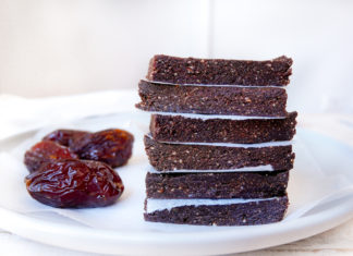 Choc Mint Energy Bars with Medjool dates
