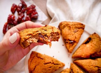 Pumpkin & Medjool Date Scones
