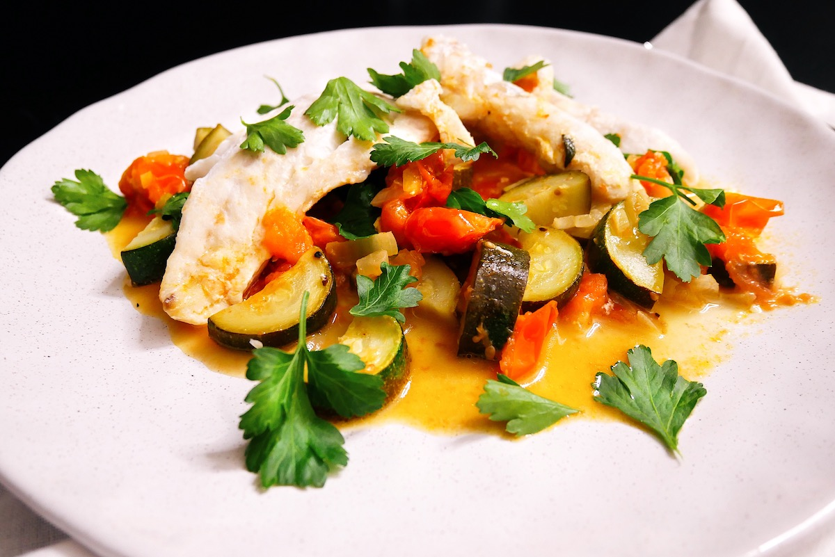 One Pan Fish and Vegetables