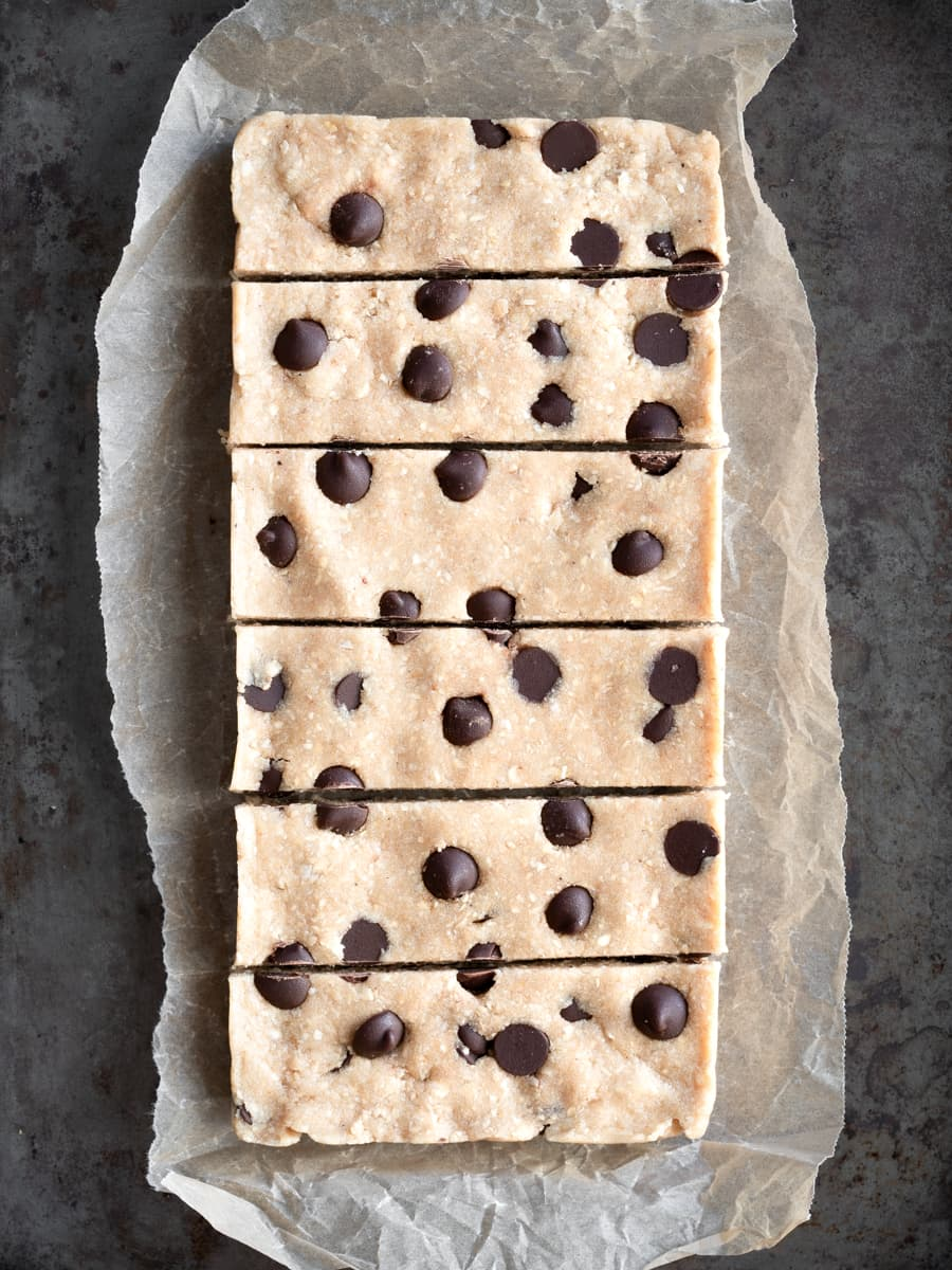 Chewy Choc Chip Oat Protein Bars