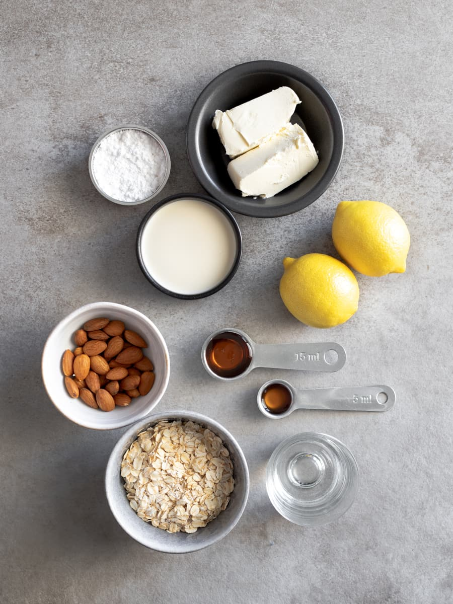 Ingredients for Lemon Cheesecake Mousse