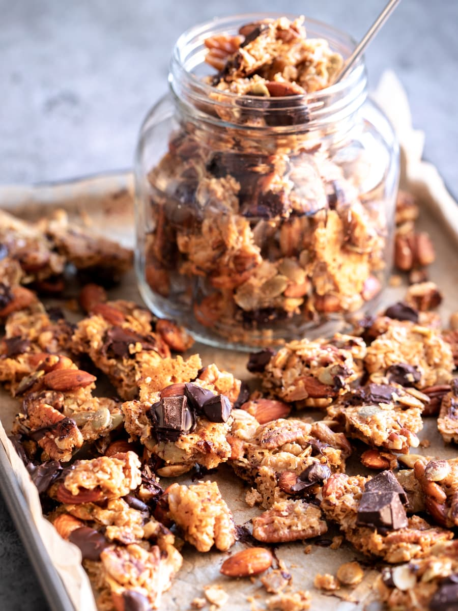Granola Clusters with Dark Chocolate