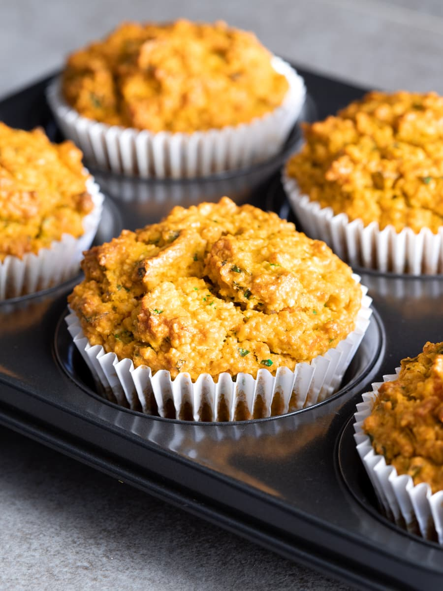 Herbed Sweet Potato and Oat Savoury Muffins