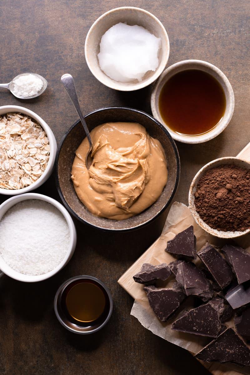 Ingredients for Easy No Bake Vegan Slice