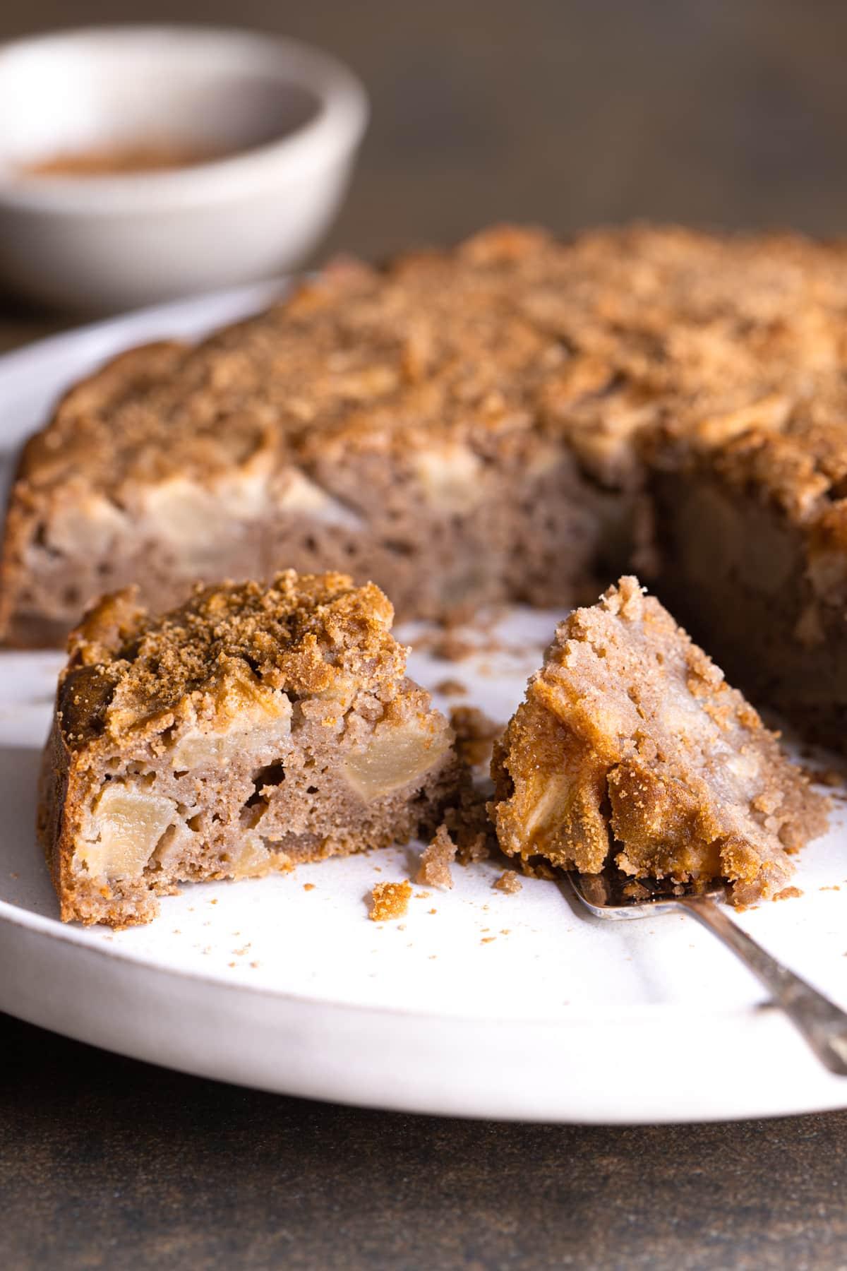 Gluten Free Apple Cake with Buckwheat Flour