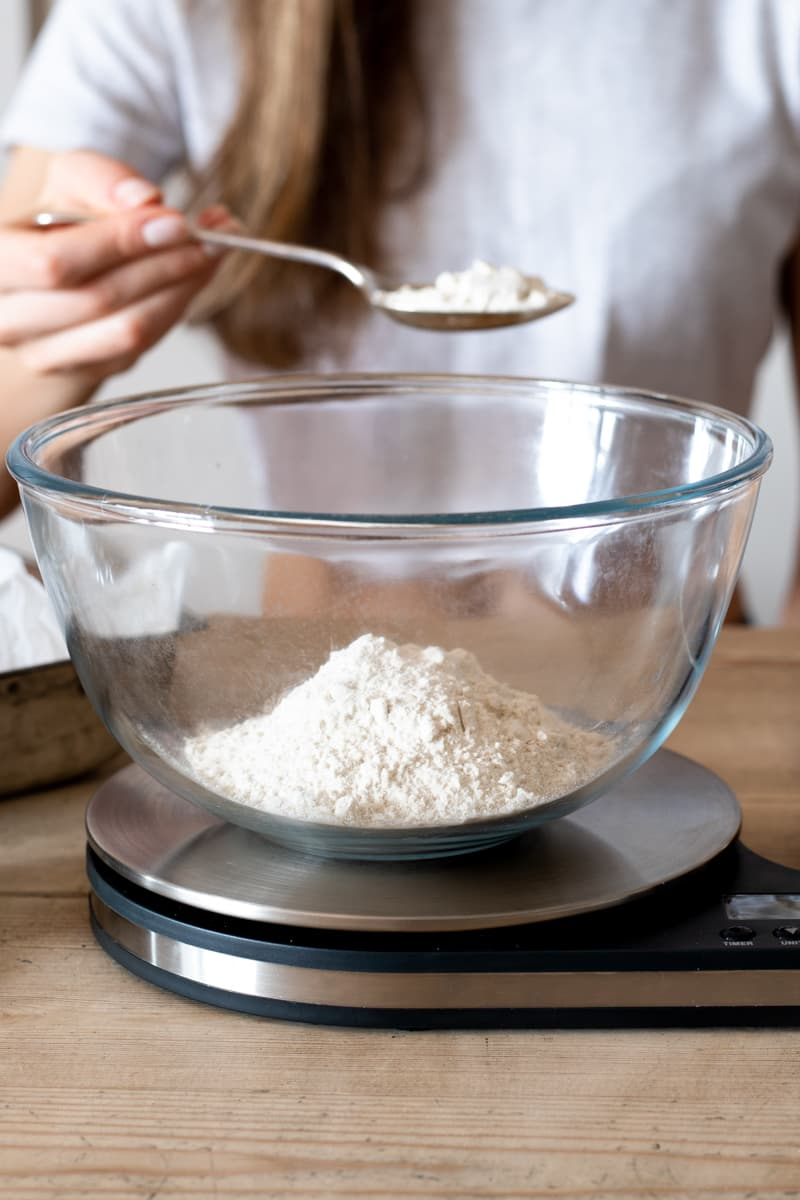 Food scale for baking